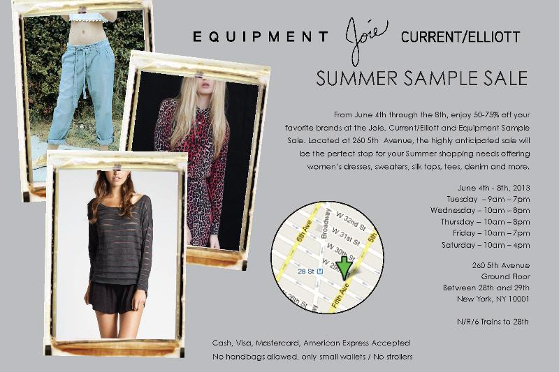 Joie, Equipment, Current/Elliot Sample Sale