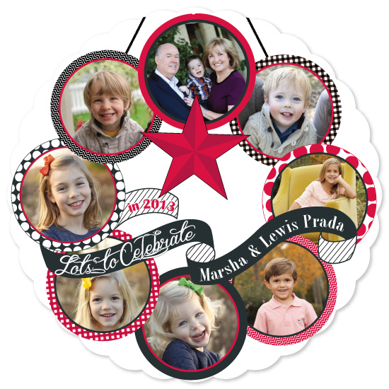 Celebration Wreath Holiday Photo Card