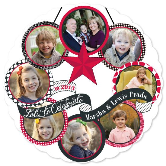 Celebration Wreath Holiday Photo Card