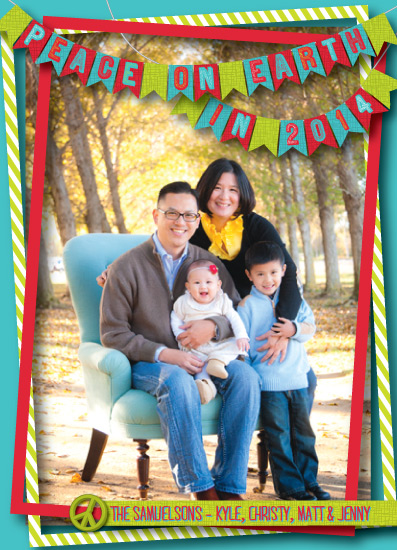 Bunting Holiday Photo Cards
