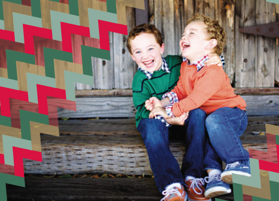holiday card - chevron
