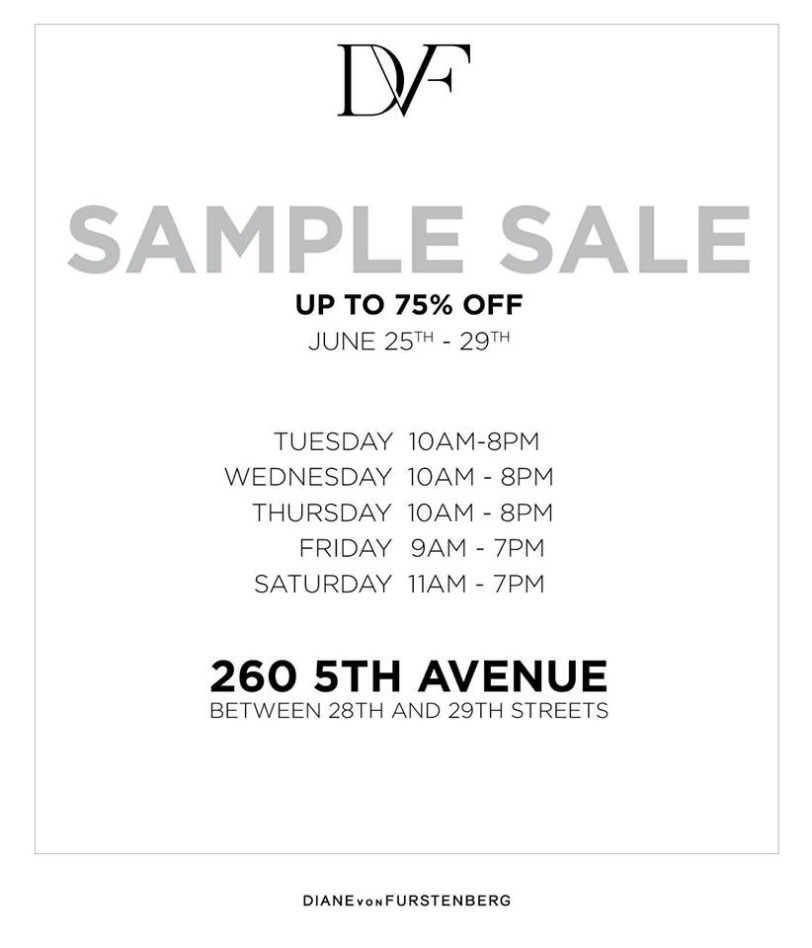Diane Von Furstenberg Sample Sale