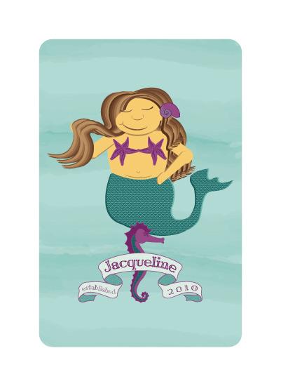 Chubby Mermaid Art Print