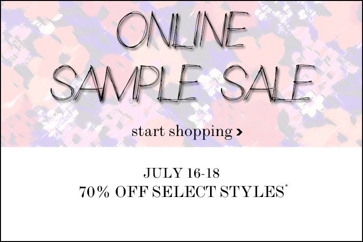 Shoshanna online sample sale