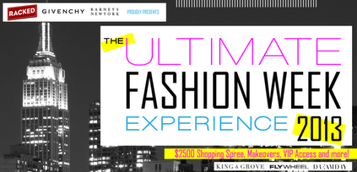 The Ultimate Fashion Week giveaway