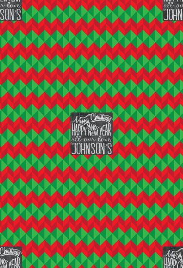 gift wrap - chevron & chalkboard