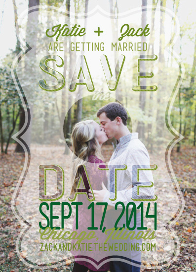 save the date cards - classy kisses