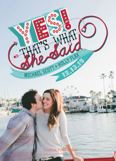 save the date cards - that's what she said