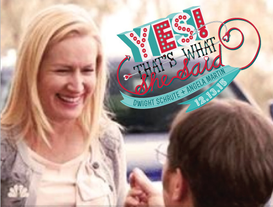 Dwight and Angela Get Engaged Save the Date