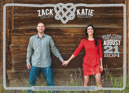 save the date cards - tying the celtic knot