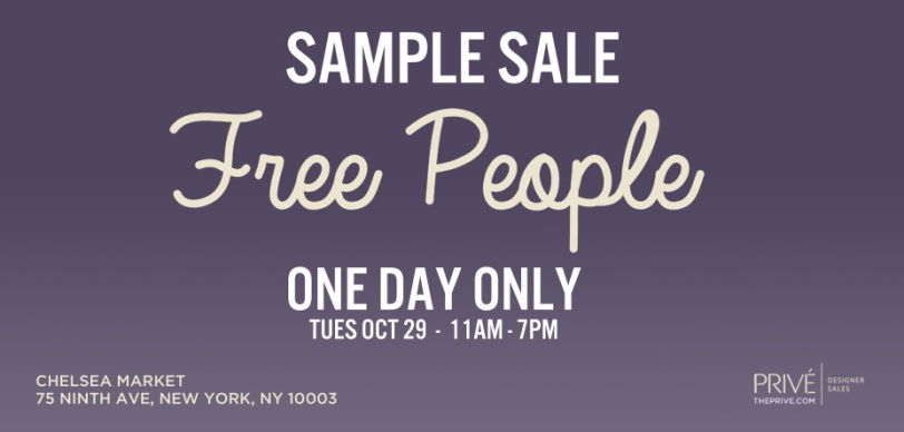 Free People Sample Sale