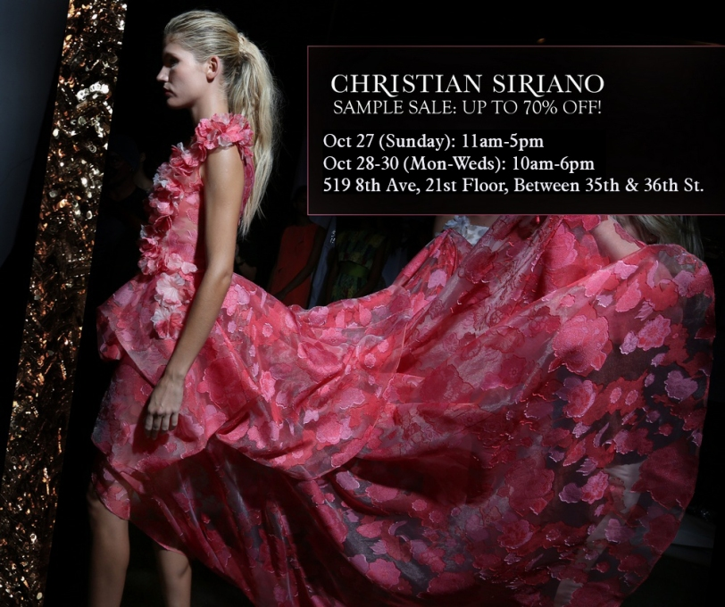 Christian Siriano Sample Sale