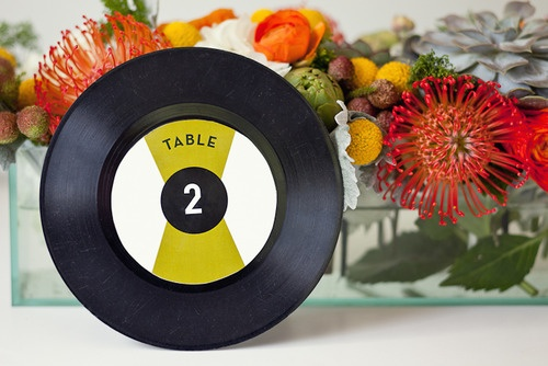 retro record table numbers