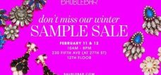 BaubleBar Sample Sale