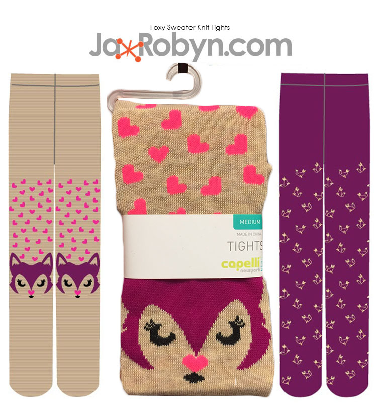 Foxy Sweater Knit Tights