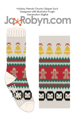 Holiday Friends Slipper Socks