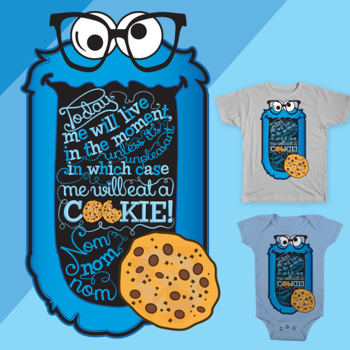 Cookie Monster T-shirt for Threadless