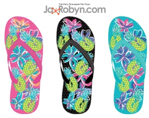 Painterly Pineapples Flip Flop copy